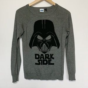 Star Wars Sweater Gray Black Darth Vadar Dark Side